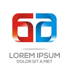 Letter ag icon design vector