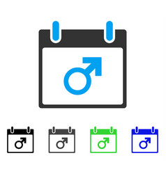 Mars male symbol calendar day flat icon vector