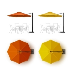 Orange Yellow Outdoor Cafe Lounge Umbrella Parasol vector image