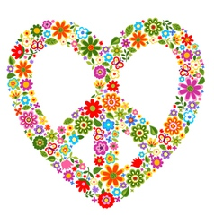 peace floral pattern symbol vector image vector image