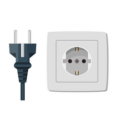 Plastic socket isolated on white vector