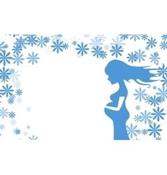 pregnancy card boy vector image