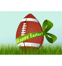 Rugby Easter egg vector image vector image