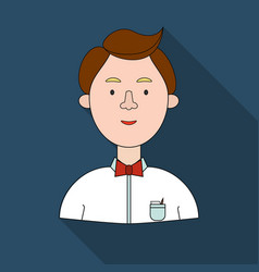 Scientist icon in flat style isolated on white vector