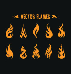Vecstor fire icons vector