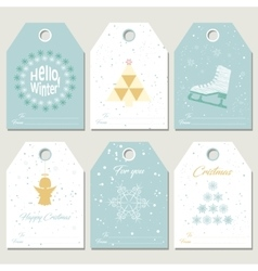 Collection christmas gift tags vector