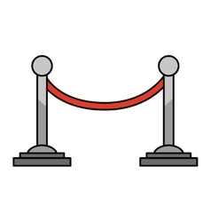 Movie cord limit icon vector