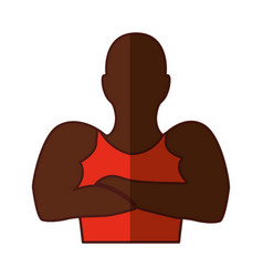 strong man human figure vector image