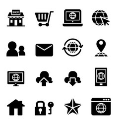 Internet website shopping online icon vector
