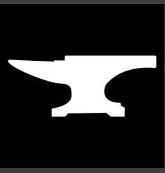 anvil block white color icon vector image