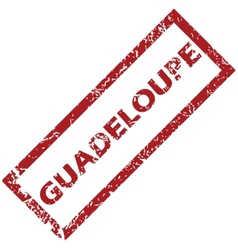 New guadeloupe rubber stamp vector