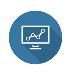Business analytics icon concept flat design vector