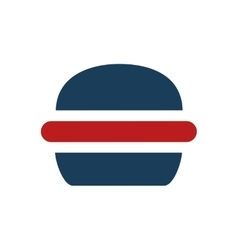 Flat icon on white background american burger vector