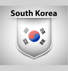 Badge design for flag of south korea vector