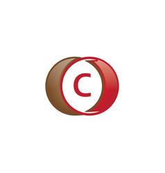 c letter circle logo vector image
