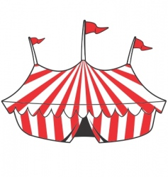 cartoon tent vector image vector image