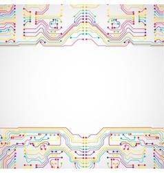 Circuit board texture vector image vector image