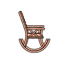 Comfortable chair to relaxation object icon vector