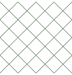 Dark Green Grid White Diamond Background vector image vector image