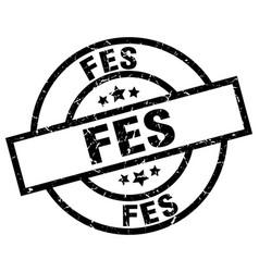 Fes black round grunge stamp vector