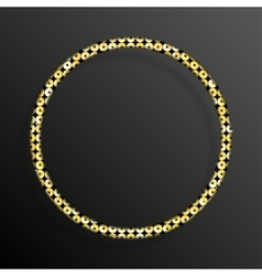 Frame gold sequins circle glitter sparkle vector