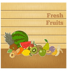 Fresh fruits banner vector image vector image