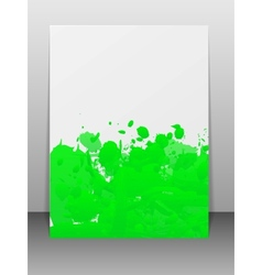 Greeting card with paint splashes vector image