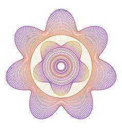 Guilloche Star Rosette vector image