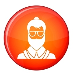 Hipsster man icon flat style vector