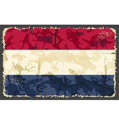 Holland netherlands grunge flag vector
