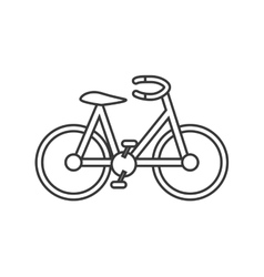 isolated bike design Healthy lifestyle concept vector image