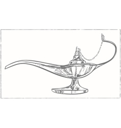 Magic arabic lamp for holy month of muslim vector