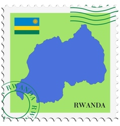 mail to-from Rwanda vector image vector image