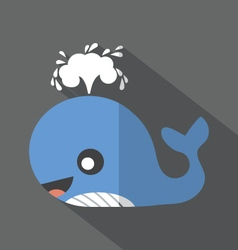 Modern flat design whale icon vector