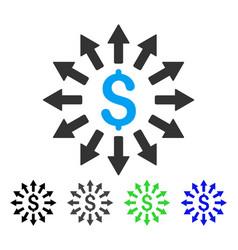 Money distribution flat icon vector