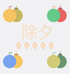 New year balls collection in vector