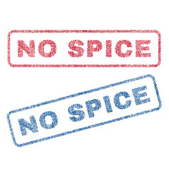 No spice textile stamps vector