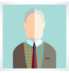 old man Flat icons collection vector image vector image