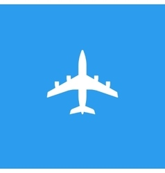 Plane silhouette shape isolated on blue vector image