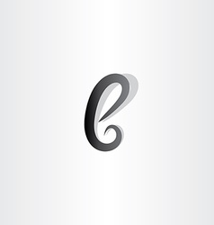 small black logo icon letter b sign symbol vector image