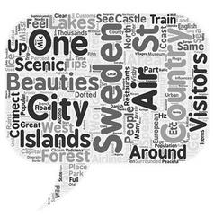 Sweden text background wordcloud concept vector