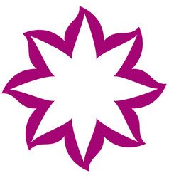 thin contour magenta of flower icon vector image vector image