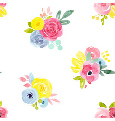 watercolor abstract floral pattern vector image vector image