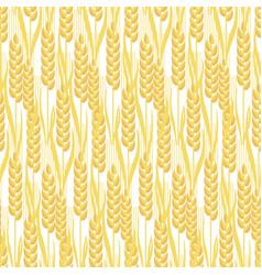 Wheat golden grain seamless pattern vector