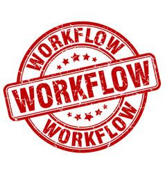 Workflow red grunge stamp vector