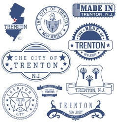 Trenton city new jersey stamps and seals vector