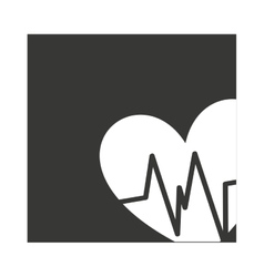 Heart cardio pulse isolated icon vector