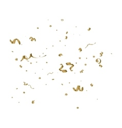 Abstract background with alling golden tiny vector