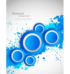 Abstract grunge background with blue color vector image