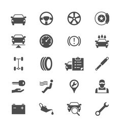 Auto service flat icons vector
